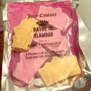 Juicy couture bath bombs- 5 sweet Prosecco scent